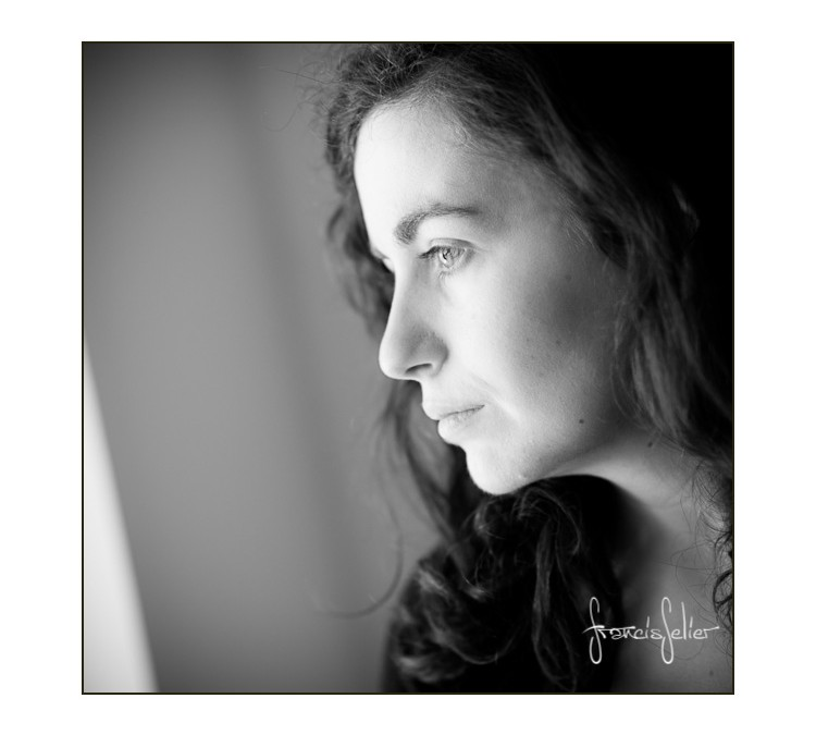 Portrait de femme en N & B