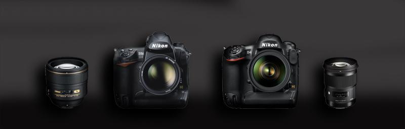 mes outils nikon d3x et nikon d4 et nikon 85 1.4 et sigma 50 mm 1.4 ART