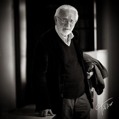 portrait de Lucien Clergue par Francis Selier