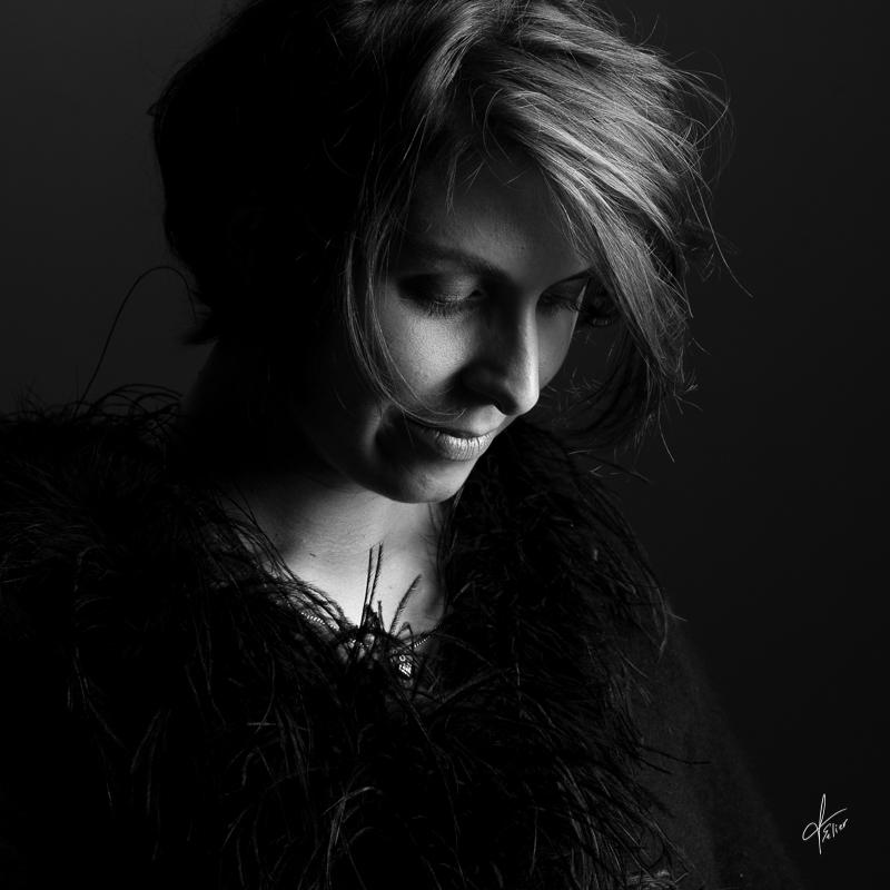 portrait femme photo noir et blanc