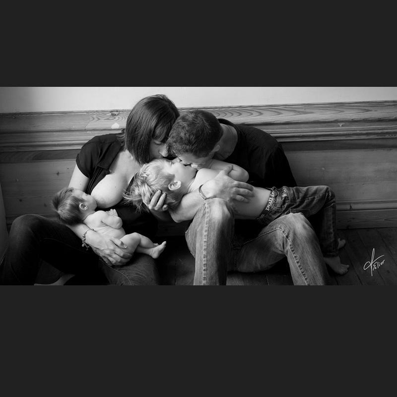 photo de famille noir blanc photographe