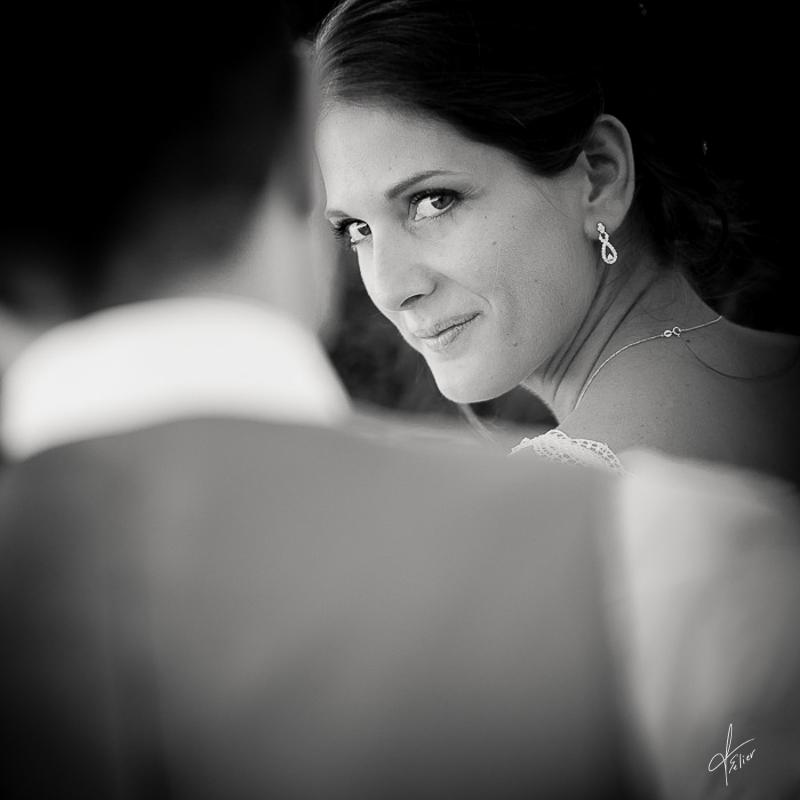 mariage en noir et blanc photo de couple et reportage