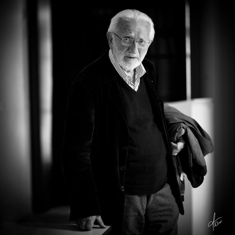 portrait homme Lucien Clergue en noir et blanc