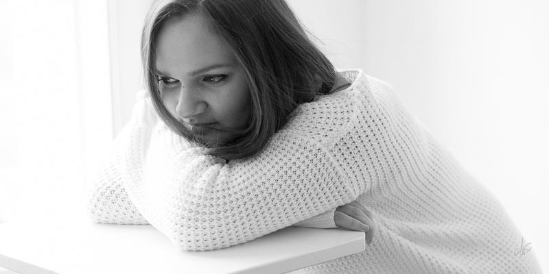 photo noir et blanc visage femme